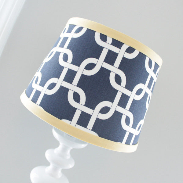 Navy Blue & Yellow Gotcha Lamp Shade