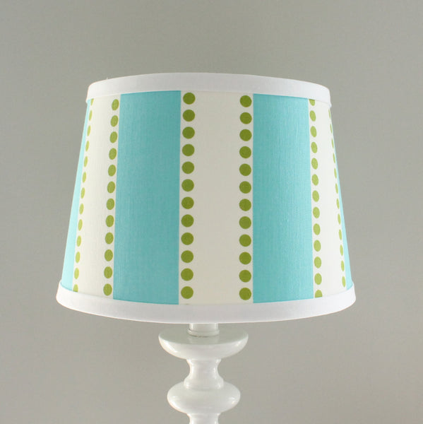 Aqua & Green Stripe Lamp Shade