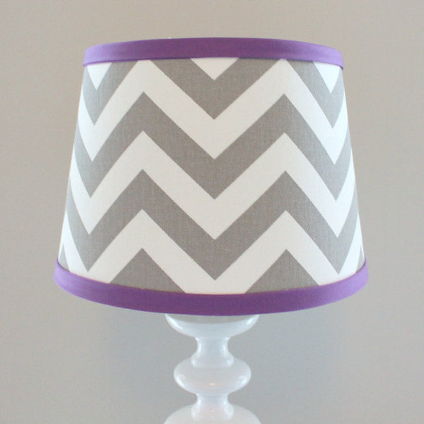 Gray & Violet Chevron Lamp Shade