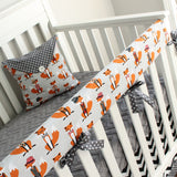 Dapper Fox Chevron Bumperless Crib Rail Bedding Set