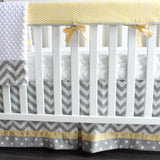 yellow dot crib set
