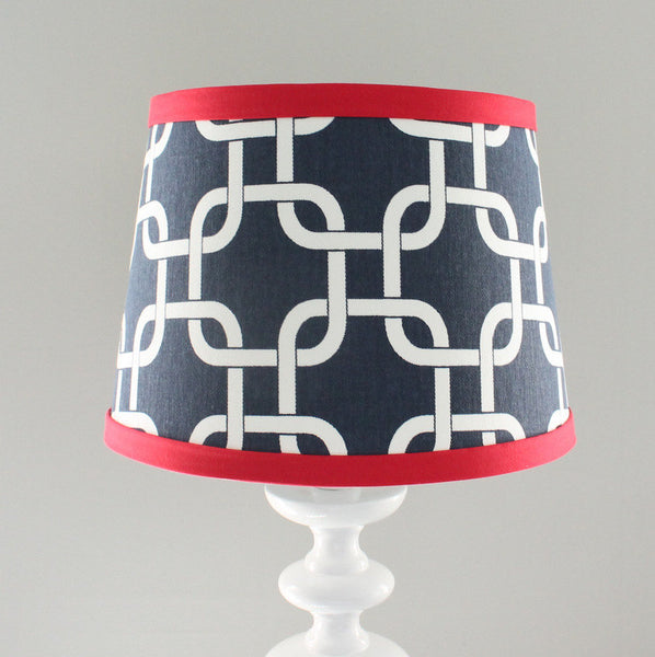 Navy & Red Gotcha Lamp Shade