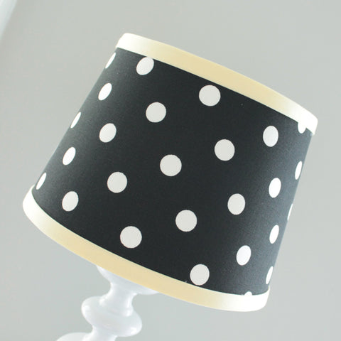 Black & Yellow Polka dot Lamp Shade