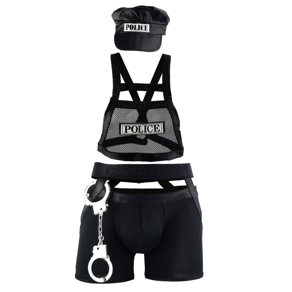 CandyMan 99152 Police Outfit Color Black