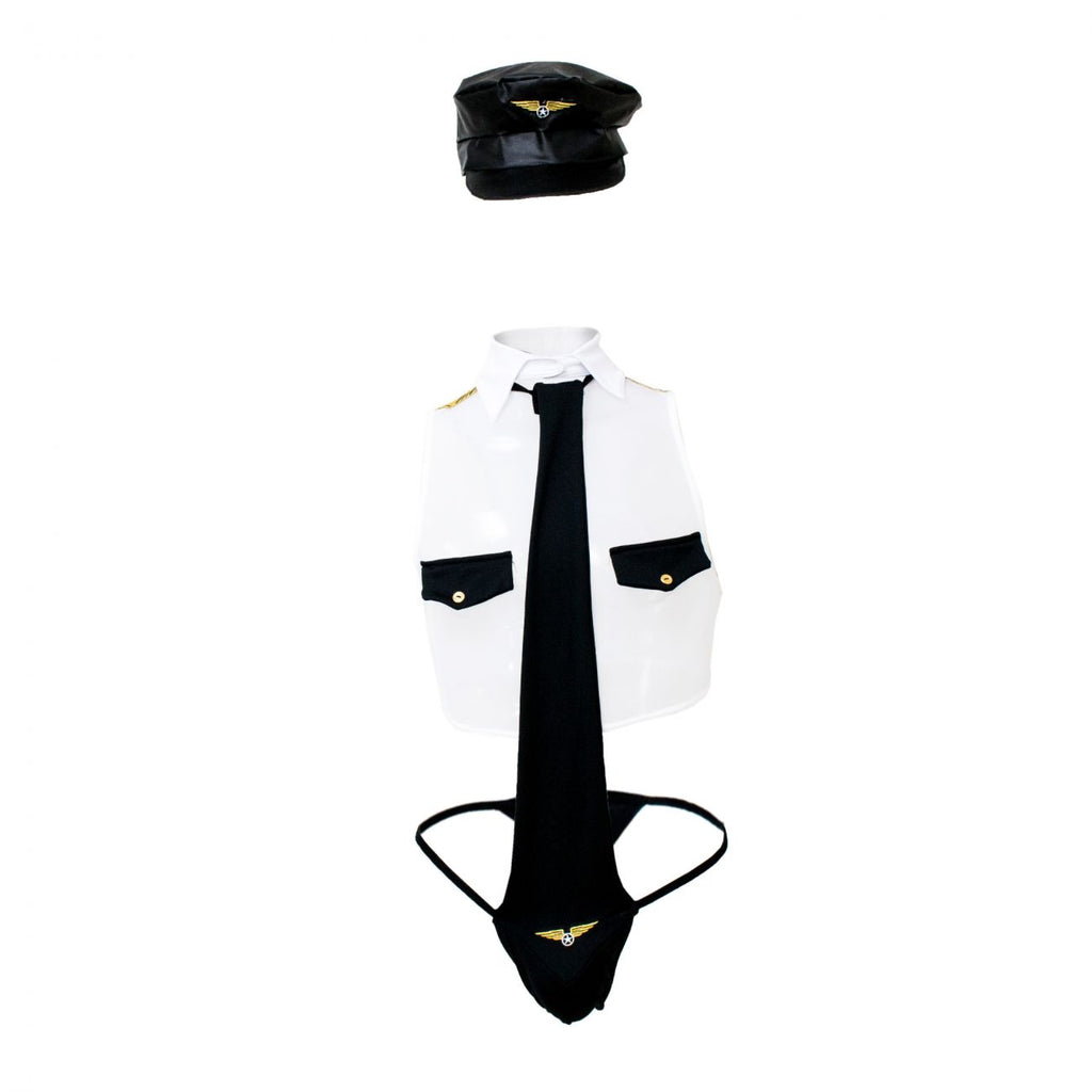 CandyMan 99289 Pilot Costume Outfit Color Multi-colored
