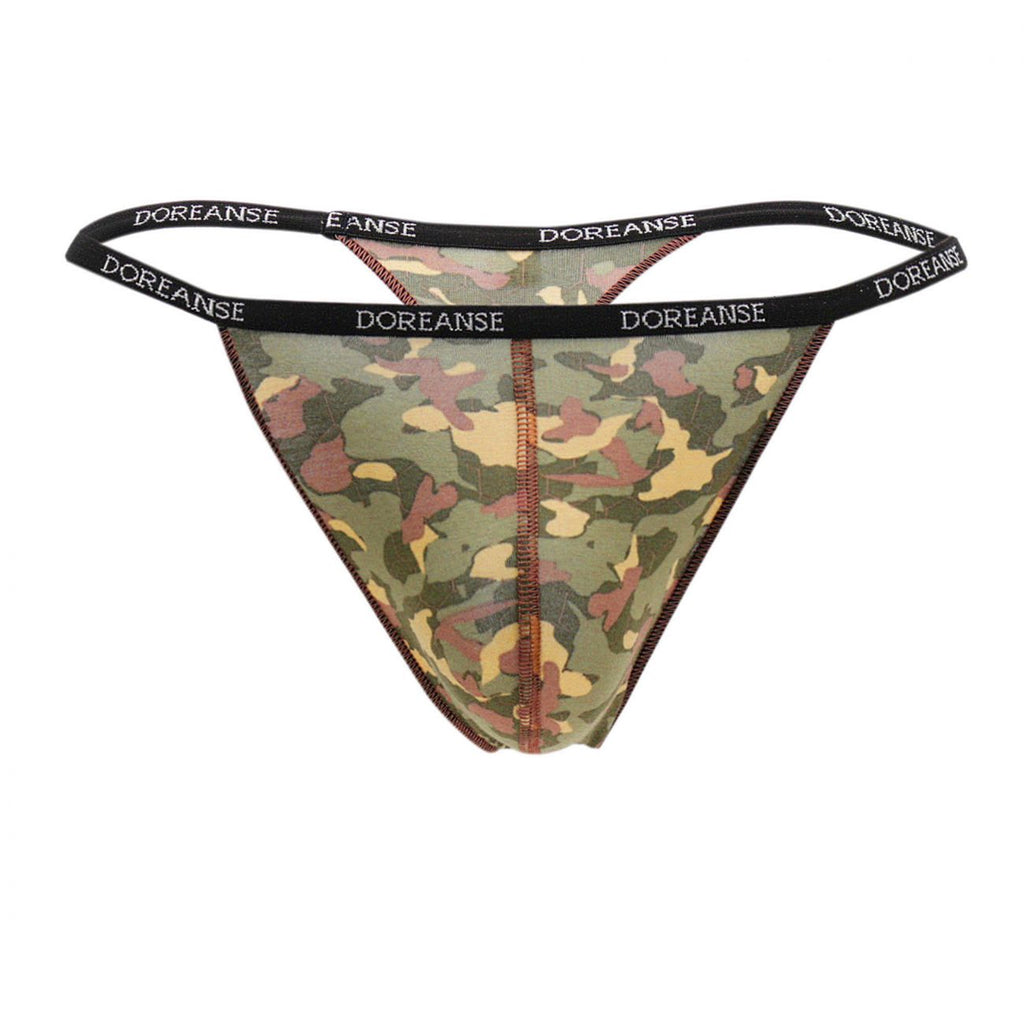 Doreanse 1312-PRN Camouflage Thong Color Printed