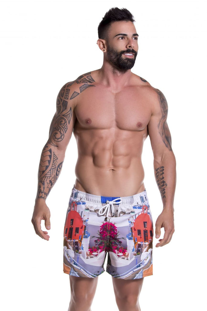 JOR 0776 Mykonos Short Swim Trunks Color Printed