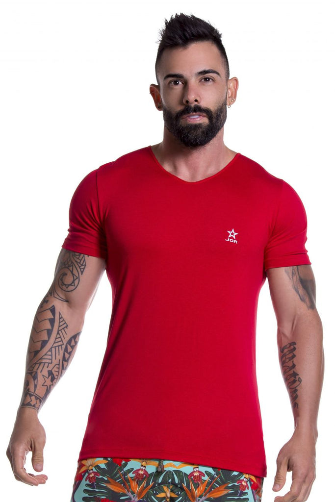 JOR 0803 Basic T-Shirt Color Red