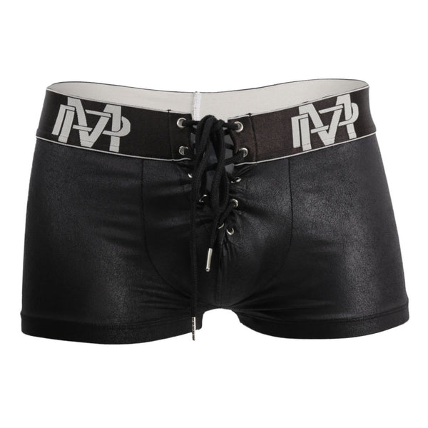Male Power 146-250 Black Ice Lace Up Short Color Black