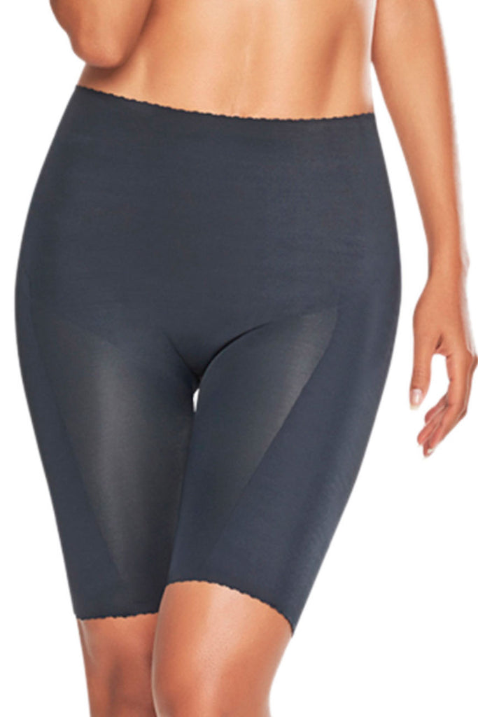 TrueShapers 1271 Mid-Thigh Invisible Shaper Short Color Black