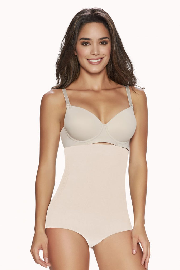 TrueShapers 1277 Thong Firm Control Hi-Waist Cincher Color Beige