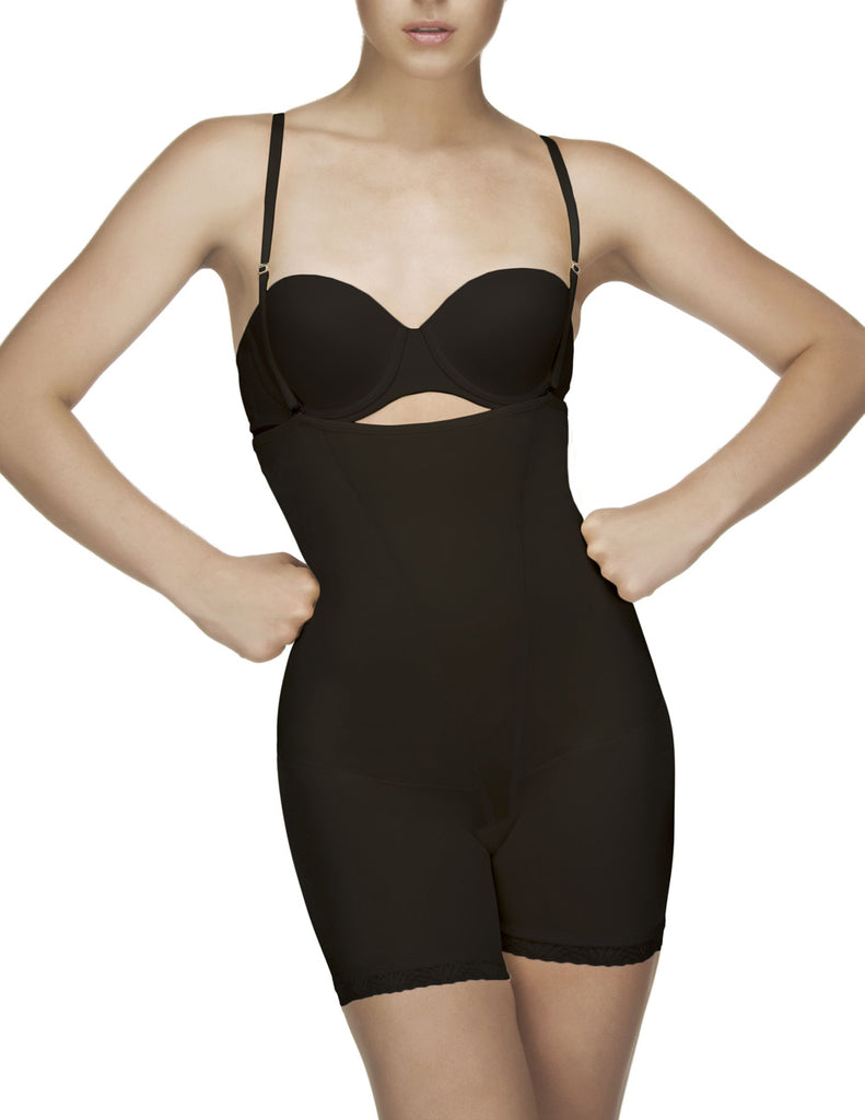 Vedette 504 Isabelle Strapless Mid Thigh Body w/ Buttock Enhancer Color Black