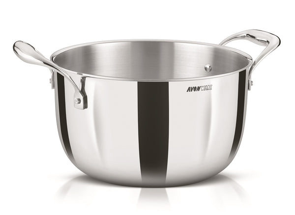 WholeBodyClad Triply Stainless Steel Casserole Cooking Pot with Glass Lid