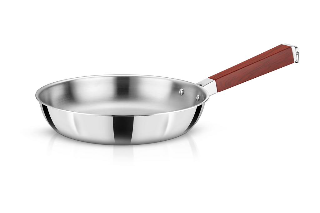 WholeBodyClad Stainless Steel Triply Frying Pan
