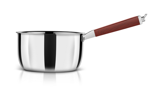 WholeBodyClad Stainless Steel Triply Sauce Pan with Glass Lid.