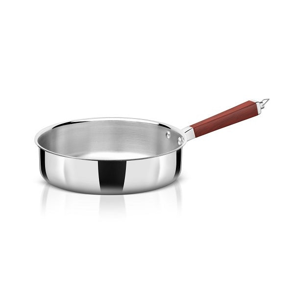 WholeBodyClad Stainless Steel Triply Saute Pan with Glass Lid
