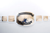 fantasy football championship belt white gold