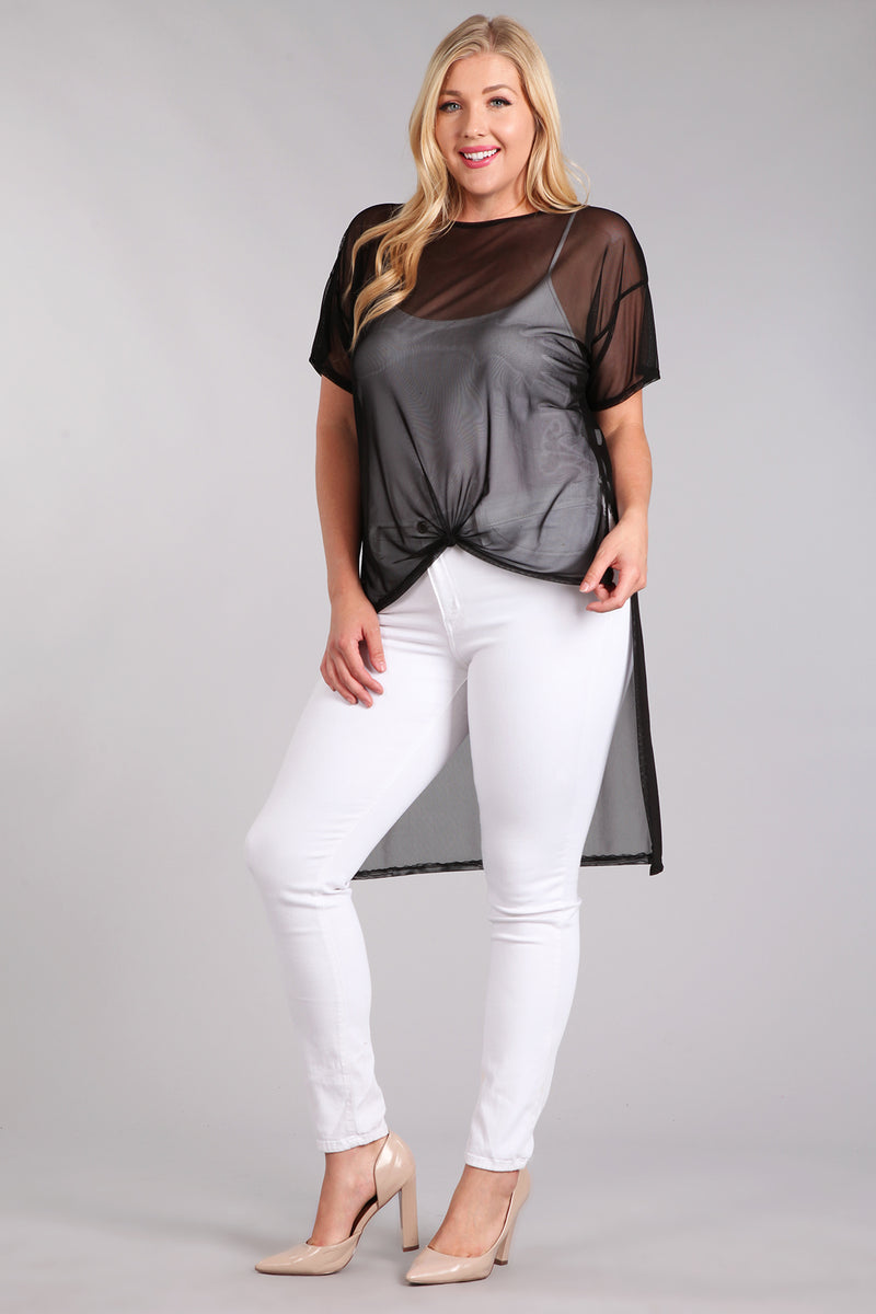 Women's Plus Size On a Whim Hi-Lo Layering Top