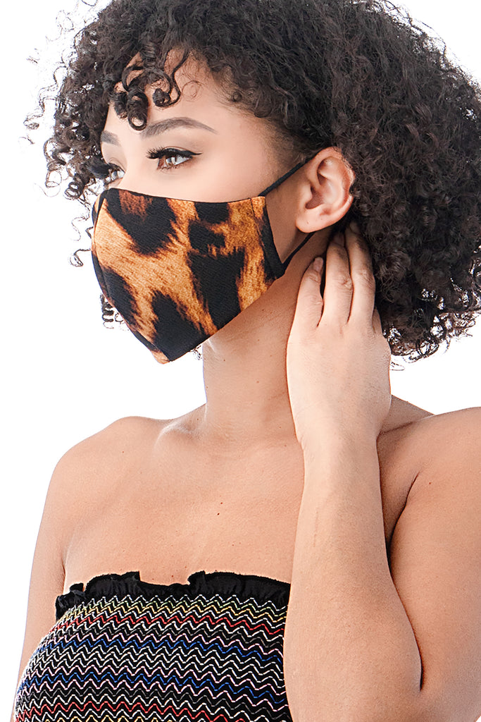 livd contemporary plus size fashion leopard mask