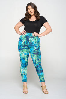 livd apparel plus size boutique tropical leaves yoga leggings