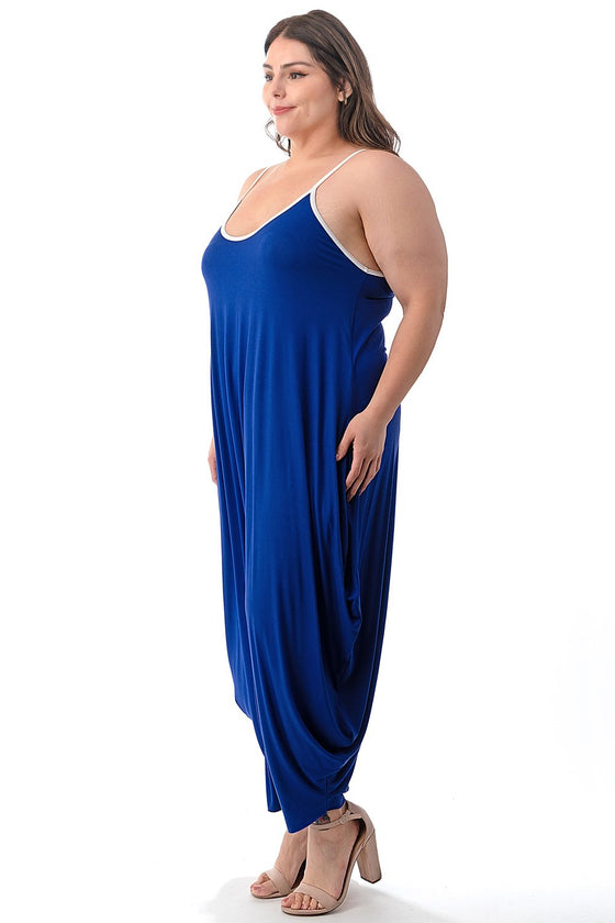 LIVD L I V D women's plus size harem jumpsuit in royal