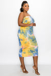 Tie Dye Basic Tube Dress