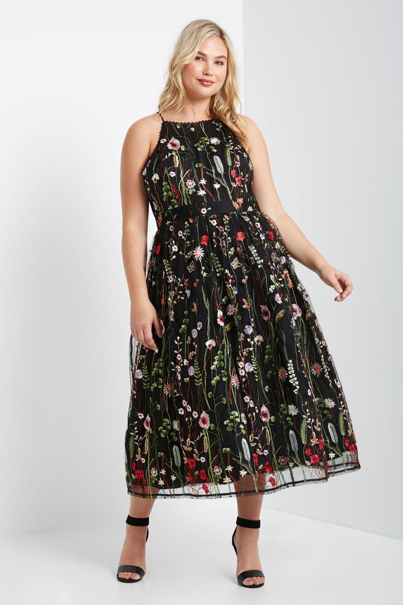 Women's Plus Size McGowan Floral Maxi Dress