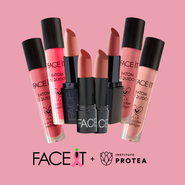 FACE IT VEGAN BEAUTY - Batons veganos com ativos naturais