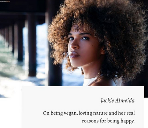 Instagram de Jackie Almeida - Face It Vegan Beauty