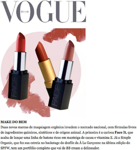 Vogue batom vegano