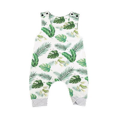 Sleeveless Frog Print Cotton Romper