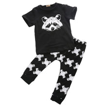 Fox Cross Print Pants Set