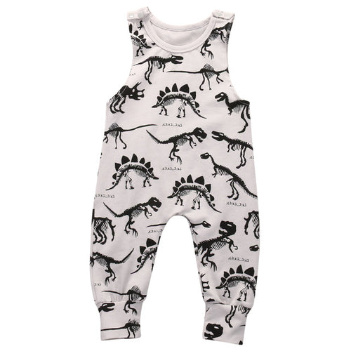 Dinosaur Sleeveless Cotton Jumpsuit
