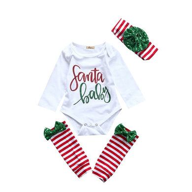 3pc Long Sleeve Cotton Romper