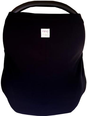 Jet black fitted infant car seat cover