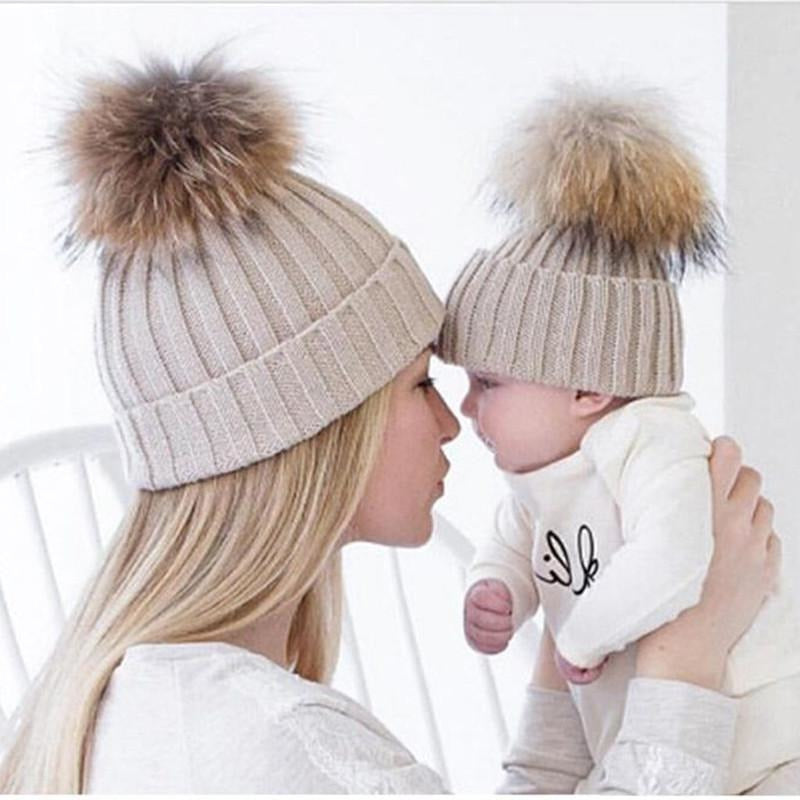 Mom and Baby Beanie