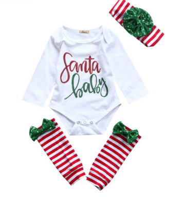 Christmas Santa Romper Set