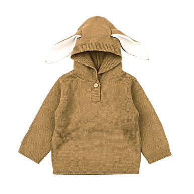Bunny Ear Hooded Knitted Sweater Baby Leah