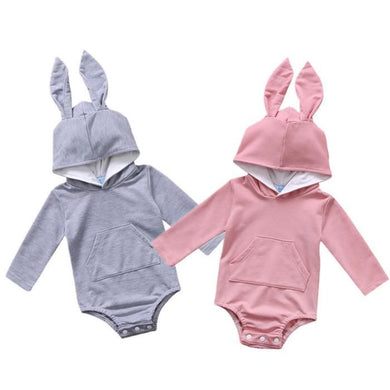 Bunny Ear Long Sleeve Hooded Romper