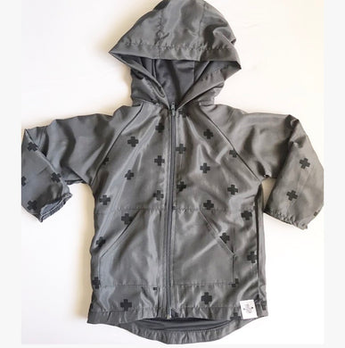 Swiss cross Windbreaker Charcoal