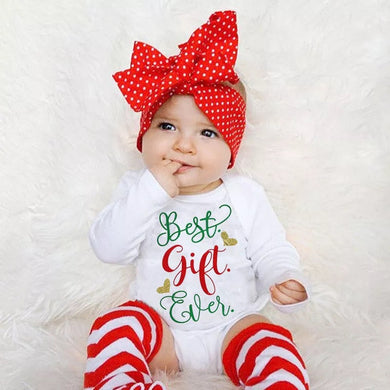 3pc Best Gift Ever Long Sleeve Christmas Outfit