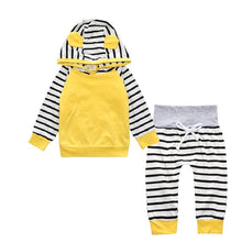 3D Hooded Striped Set