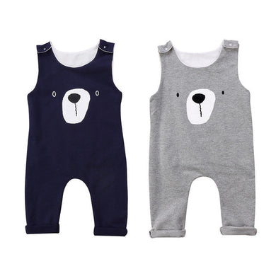 Sleeveless Bear Cotton Romper