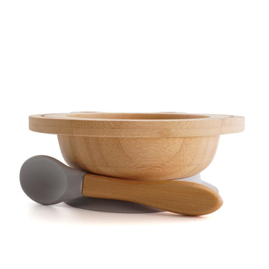 Organic Bamboo Bowl Happy Lion – Grey