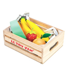 "Le Toy Van – Honeybee ""Fruits 5 A Day"" wooden market crate"