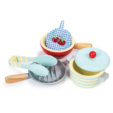 Le Toy Van – Honeybake Wooden Pots & Pans