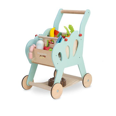 Le Toy Van – Wooden Shopping Trolley (with detachable fabric bag)