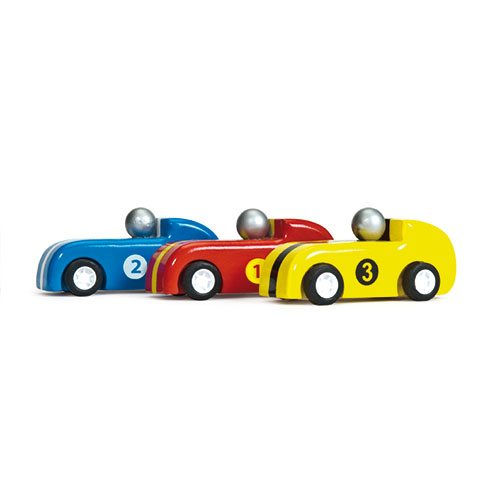 Le Toy Van – Pull Back Wooden Racers (Set of 3)