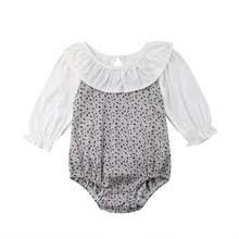 Peter Pan Collar Flower Romper