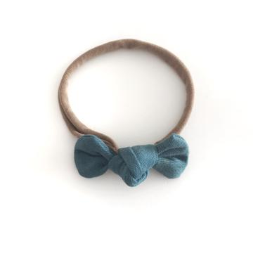 PETITE TEAL BOW